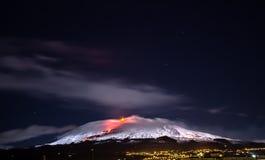 Le mont Etna (volcan) Photos stock