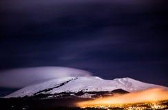 Le mont Etna (volcan) Photo libre de droits