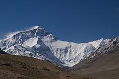 Le mont Everest du camp de base au Thibet A Image stock