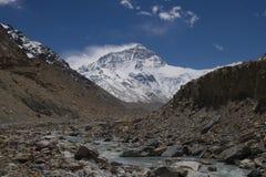 Le mont Everest du camp de base au Thibet E Photographie stock