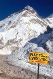Le mont Everest du camp de base de Pumo Ri Photo libre de droits