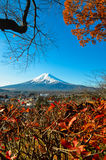 Le mont Fuji couronné de neige Images stock