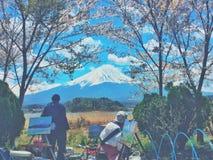 Le mont Fuji dans l'artists& x27 ; vue Photos libres de droits