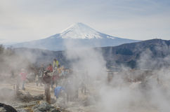Le mont Fuji pris image libre de droits