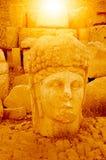 Le mont Nemrut la tête devant les statues Photo libre de droits