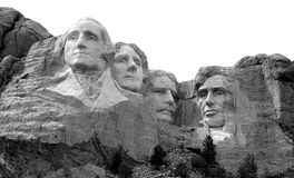 Le mont Rushmore B&W Photos stock