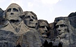 Le mont Rushmore - présidents de bâti Aquarelle humide de peinture sur le papier Art naïf Aquarelle de dessin sur le papier photographie stock