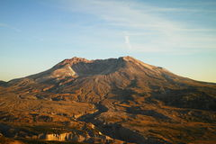 Le Mont Saint Helens de l'observatoire de Johnsons image stock