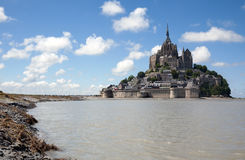 Le Mont Saint Michel. In the region of Basse Normandie Royalty Free Stock Photography