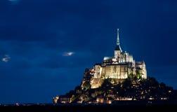 Le Mont Saint Michel. Castle Le Mont Saint Michel in the Normandy, France Stock Photos