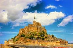 Le Mont Saint Michel Royaltyfri Bild