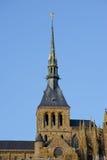 Le Mont Saint Michel Abbey i Normandie, Frankrike Royaltyfri Fotografi