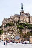 Le Mont Saint Michel, Bretagne, Frankrike Arkivbild