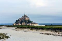 Le Mont Saint Michel, Bretagne, Frankrike Arkivbilder