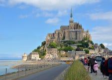 Le Mont Saint Michel, France. The view on Mont Saint Michel, France Royalty Free Stock Photos