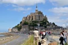 Le Mont Saint Michel, France. The view on Mont Saint Michel, France Royalty Free Stock Images