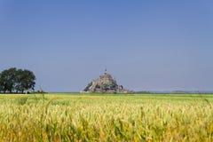 Le Mont Saint Michel, Frankrike Fotografering för Bildbyråer
