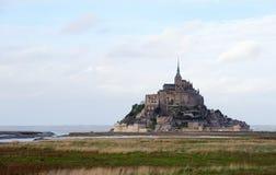 Le Mont Saint Michel i Normandie, Frankrike Arkivbild