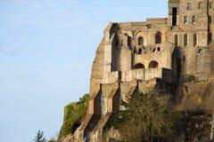Le Mont Saint Michel i Normandie, Frankrike Royaltyfri Foto