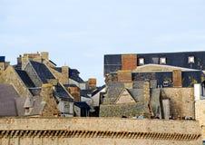 Le Mont Saint Michel i Normandie, Frankrike Arkivfoton