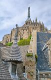 Scenic view in Mont Saint Michel, Normandy, France Royalty Free Stock Image