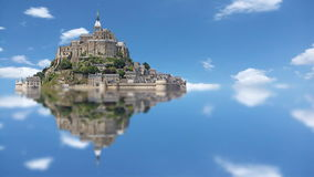 Le Mont Saint Michel, lapso de tempo video estoque