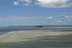 Le Mont Saint-Michel - low tide Stock Photography