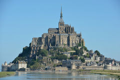 Le Mont Saint-Michel, Normandië, Frankrijk Royalty-vrije Stock Foto
