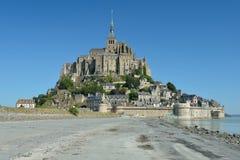 Le Mont Saint-Michel, Normandië, Frankrijk Royalty-vrije Stock Fotografie