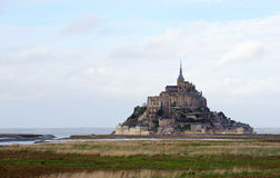 Le Mont Saint Michel in Normandië, Frankrijk Stock Fotografie