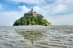 Le Mont-Saint-Michel Normandië Frankrijk Royalty-vrije Stock Foto