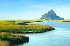 Le Mont-Saint-Michel Normandië Frankrijk Royalty-vrije Stock Foto's