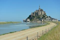Le Mont Saint-Michel, Normandia, Francia Fotografia Stock Libera da Diritti