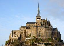Le Mont Saint Michel in Normandie, Frankreich Lizenzfreies Stockbild