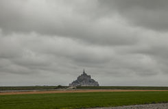 Le Mont-Saint-Michel, Normandy, from a distance. Royalty Free Stock Photo