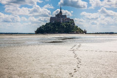 Le Mont Saint Michel, Normandy, France Royalty Free Stock Images