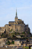 Le Mont Saint Michel in Normandy, France. Stock Image