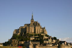 Le Mont Saint Michel Abby Royalty Free Stock Photo