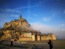 Le mont Saint-Michel stock photography