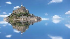 Le Mont Saint Michel, time lapse Stock Image
