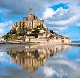 Le Mont Saint Michele, Francia Fotografía de archivo libre de regalías