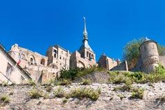 Le Mont Saint Michele, Francia Imagen de archivo libre de regalías