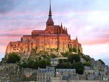 Le Mont-San-Michel - supporto del ` s di St Michael - la Normandia - la Francia Immagini Stock Libere da Diritti