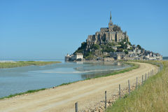 Le Mont Sanktt-Michel, Normandy, Frankrike Royaltyfri Foto