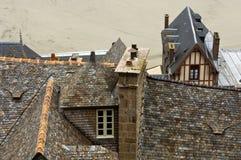Le Mont-Santo-Miguel, Normandie, Francia Imagenes de archivo