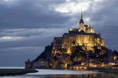 Le Mont St Michel Foto de Stock Royalty Free