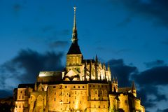 Le Mont St Michel in Normandie, Francia immagine stock
