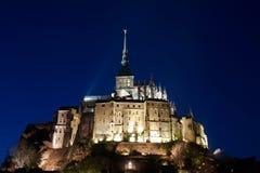 Le Mont St Michel Normandie, Frankreich Stockbild