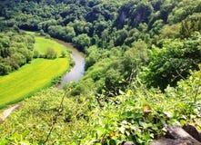 Le montage en étoile de rivière de Symonds Yat photos libres de droits