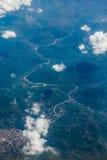 Le montagne da un aeroplano Fotografia Stock Libera da Diritti